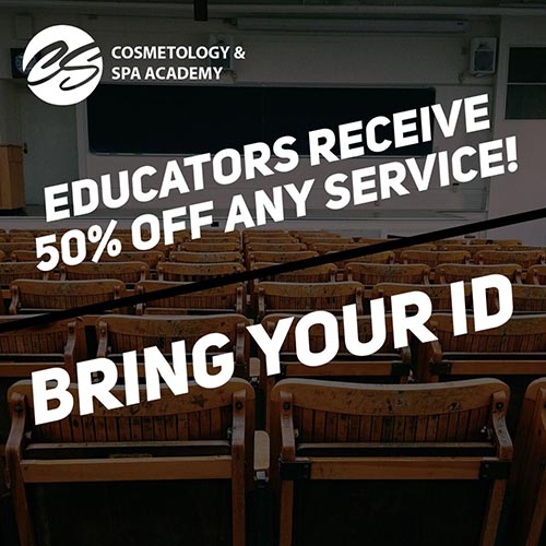Educators Receive 50% Off Any Service!