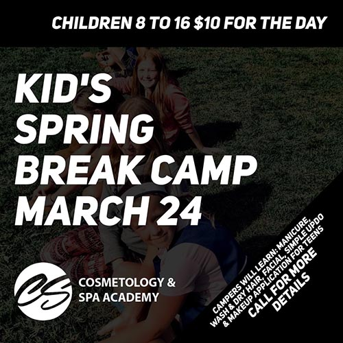 Kids Spring Break Camp is March 24